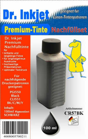 Whitelabel CR57BK Dr. Inkjet Druckertinte für