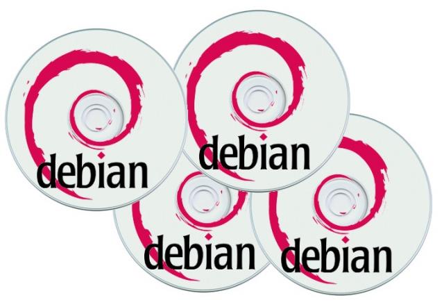 Debian Linux auf 4 bedruckten DVDs - aktuelle