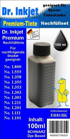 Whitelabel ER81BK Dr. Inkjet Druckertinte für