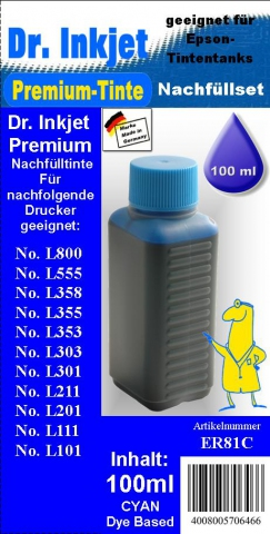Whitelabel ER81C Dr. Inkjet Druckertinte für