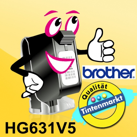 Brother HG631 BROTHER P-TOUCH 12mm(5) Y-B