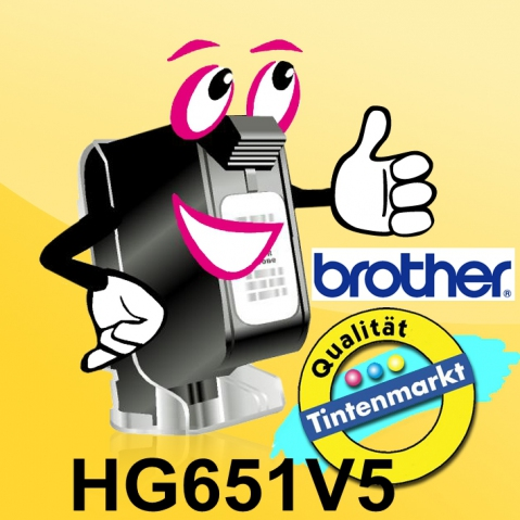 Brother HG651 BROTHER P-TOUCH 24mm(5) Y-B
