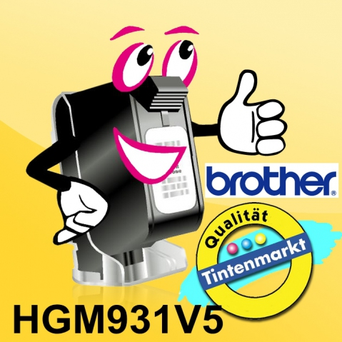 Brother HGM931 BROTHER P-TOUCH 12mm(5)SM-Bsilver