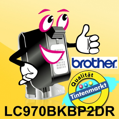 Brother LC970BKBP2DR Druckerpatronen Doppelpack