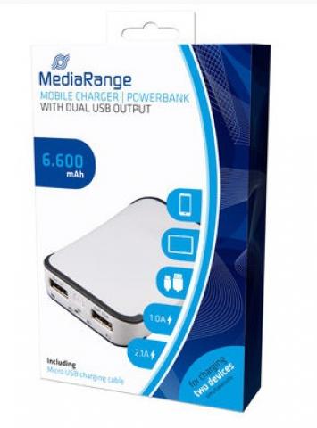 MediaRange Mobiles Ladeger�t, Powerbank mit