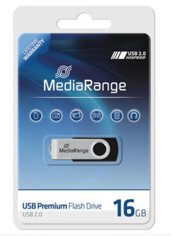 MediaRange USB-Speicherstick 16GB im Blister