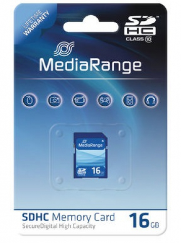 MediaRange SDHC Speicherkarte, Memory Card 16