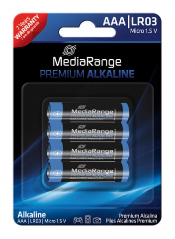 MediaRange Alkaline Battery AAA , LR03 1.5V in
