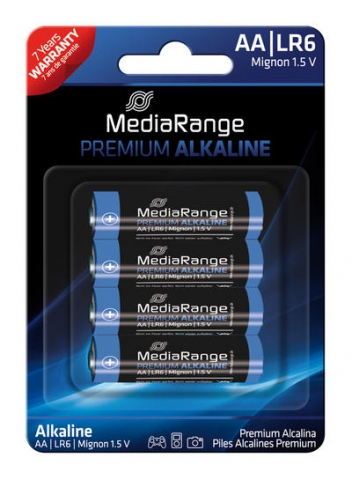 MediaRange Alkaline Battery AA , LR6 1.5V in