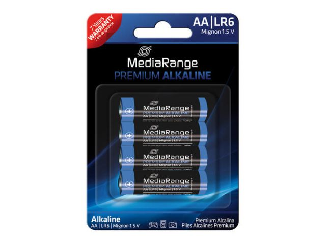 Alkaline Battery AA / LR6 1.5V in Premium Qualität, 4 Stück im Blister - Pack
