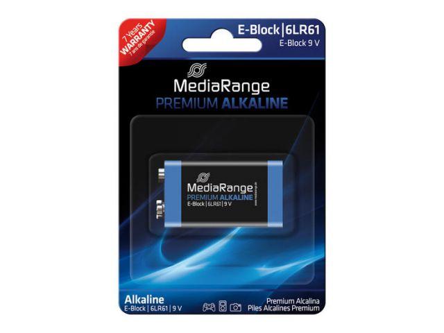 Alkaline Battery E-Block / 6LR61 9V in Premium Qualität, 1 Stück im Blister - Pack