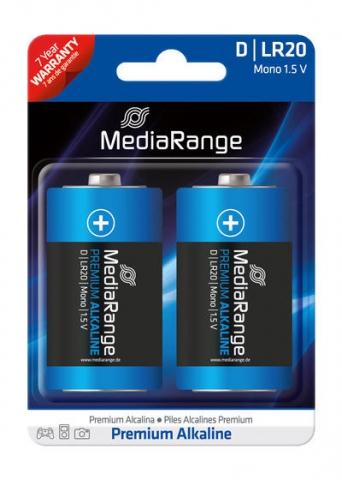 MediaRange Alkaline Battery Mono D , LR20 1.5V