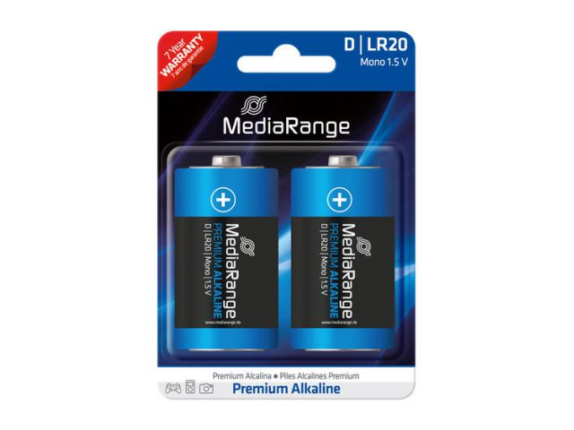 Alkaline Battery Mono D / LR20 1.5V in Premium Qualität, 2 Stück im Blister - Pack