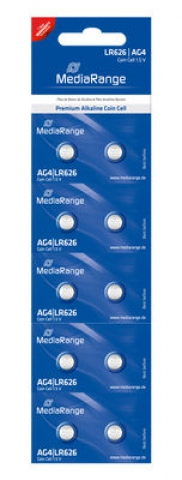 MediaRange Alkaline Battery Coin Cell AG4 ,