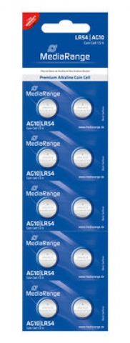 MediaRange Alkaline Battery Coin Cell AG10 ,
