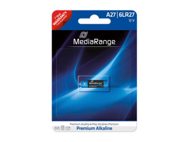 Alkaline Battery A27 / 6LR27 12V in Premium Qualität, 1 Stück im Blister - Pack