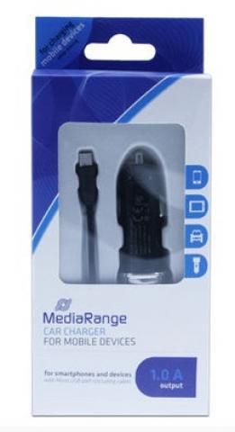 MediaRange Kfz-Ladegerät mit 1.0A Ladestrom, für