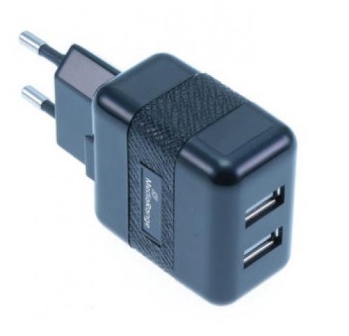 MediaRange Ladegerät mit 2x USB zum