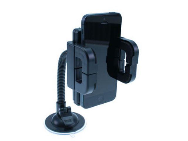 Kfz-Universalhalterung für Smartphones und andere mobile Endgeräte, mit Saugnapf