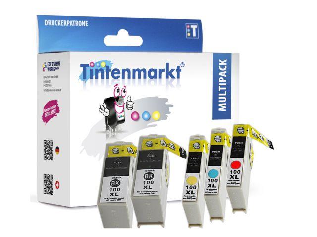 Druckerpatronen 5 Stück im Multipack ersetzen Lexmark 14N0850E schwarz und color