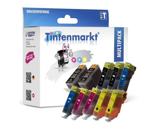 Multipack ersetzt Canon CLI-8 und PGI-5 mit 10 kompatiblen Druckerpatronen mit Chip schwarz und