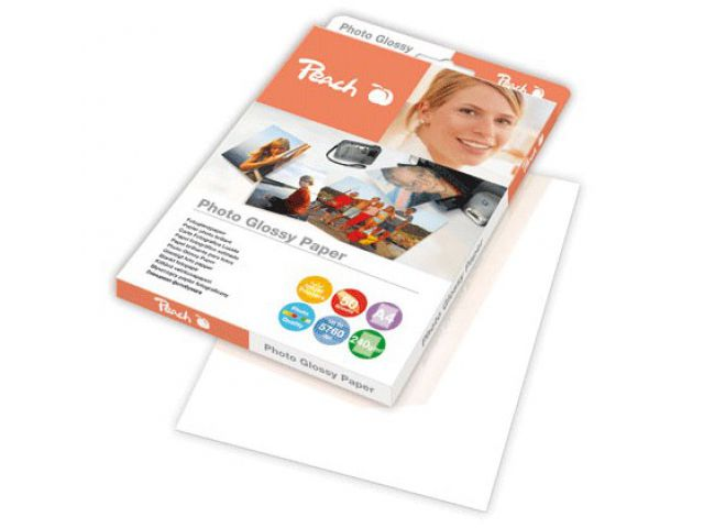 A4 Peach Fotopapier 240 g / m2, glossy, 50 Blatt sofort trocknend u. wasserfest
