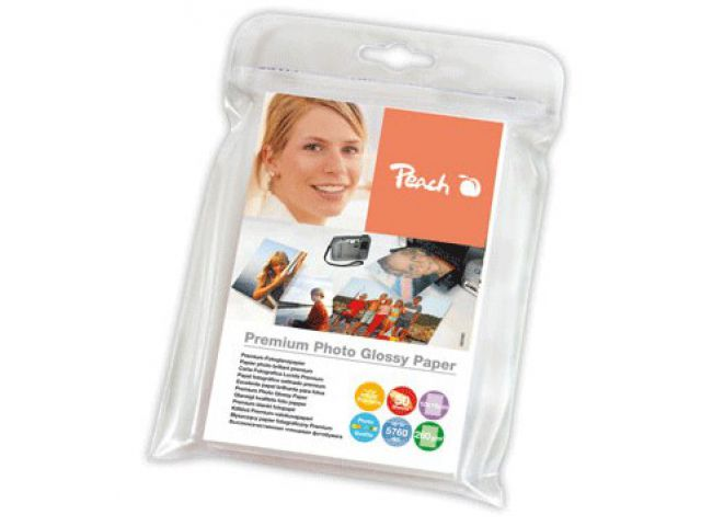 A6 Peach Fotopapier 260 g / m2, glossy, 10x15 cm, 50 Blatt, mikroporös, sofort trocknend und