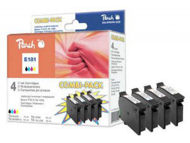 Multipack Tintenpatronen mit XL-Kapazität, 1x 13ml schwarz und 3 x 9 ml C / M / Y, recycelte