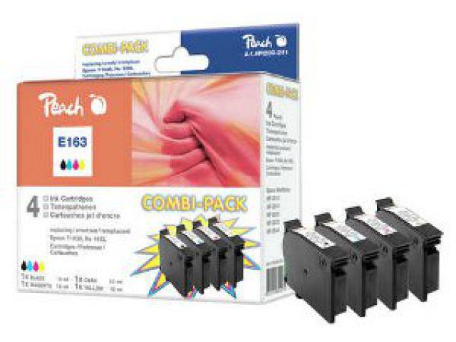 Multipack Tintenpatronen mit recycelten Epson C13T16364010, 13ml schwarz und 3x9 ml C/M/Y,