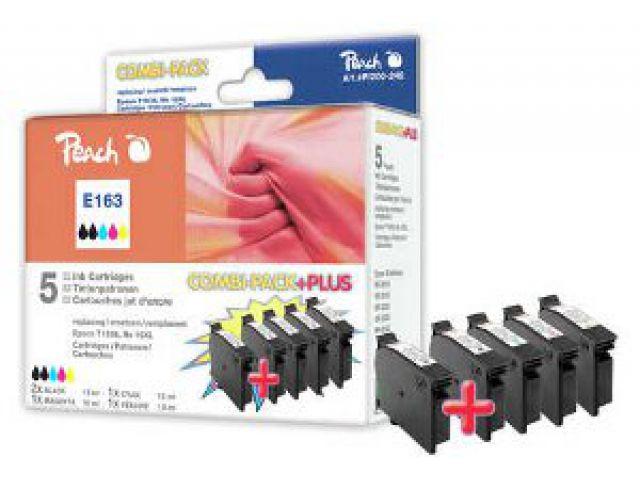 Multipack PLUS mit recycelten Epson C13T16364010, 2 x 13ml schwarz und 3x9 ml C/M/Y, schwarz +