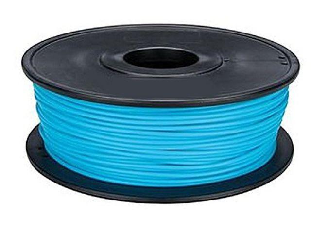 PLA Filament in Hellblau für 3D Drucker MakerBot, RepRap, MakerGear und viele Andere, Stärke