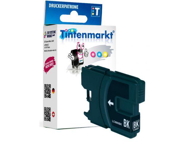 Druckerpatrone ersetzt Brother LC-980BK, recycelte original Tintenpatrone mit ca. 18 ml Inhalt