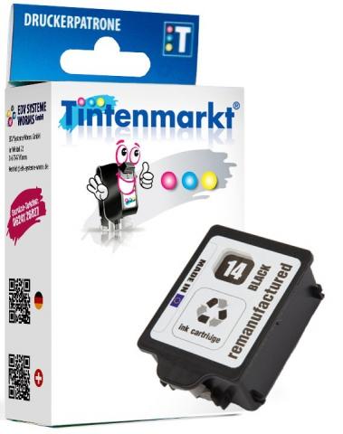 Tintenmarkt Druckerpatrone ersetzt HP14B,