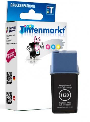 Tintenmarkt Druckerpatrone ersetzt HP20,