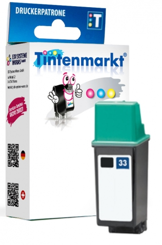 Tintenmarkt Druckerpatrone ersetzt HP33,