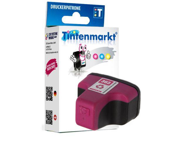 Druckerpatrone ersetzt HP363MG, wiederbefüllte Tintenpatrone mit ca. 9,5 ml Inhalt magenta
