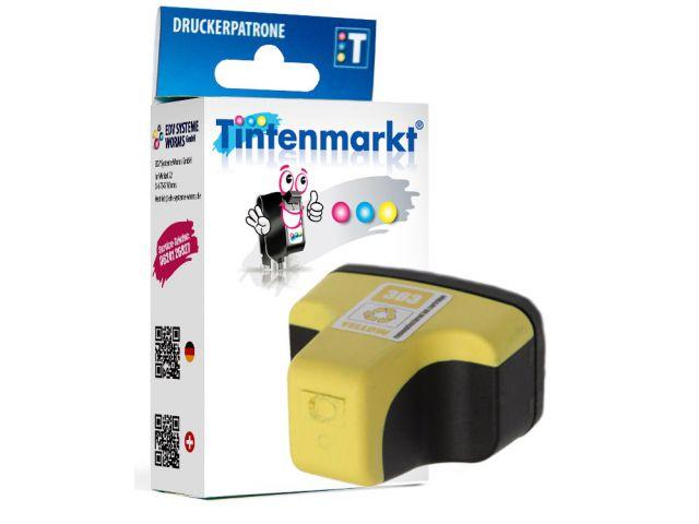 Druckerpatrone ersetzt HP363Y, wiederbefüllte Tintenpatrone mit ca. 9,5 ml Inhalt gelb