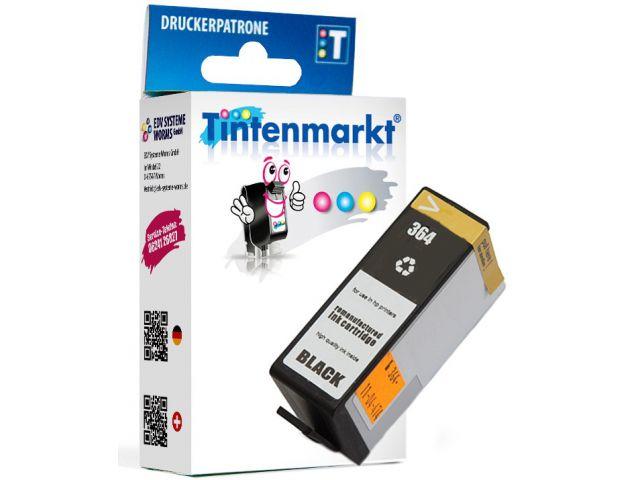 Druckerpatrone, ersetzt HP364BK, wiederbefüllte Tintenpatrone mit Füllstandsanzeige,ca. 9 ml