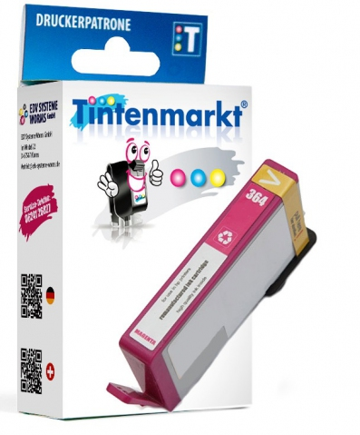 Tintenmarkt Druckerpatronem ersetzt HP364M,