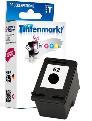 Tintenmarkt Druckerpatrone ersetzt HP62BK,