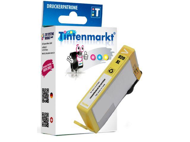 Druckerpatrone ersetzt HP920Y, wiederbefüllte Tintenpatrone mit ca. 14 ml Inhalt gelb