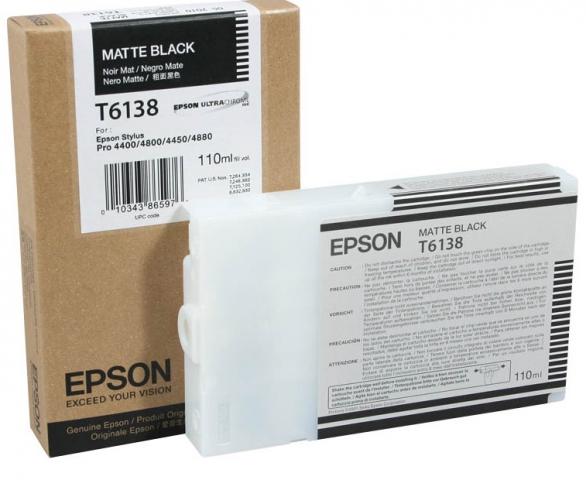 Epson T613800 Tintenpatrone original f�r Plotter