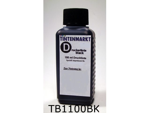 Druckertinte in black Dye Based Qualit�t f�r Brother LC900 / LC970 / LC980 / LC985 / LC1000 /