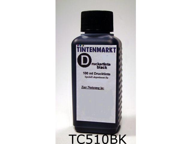 Druckertinte in pigmentiert Qualität für Canon PG-510 100 ml schwarz