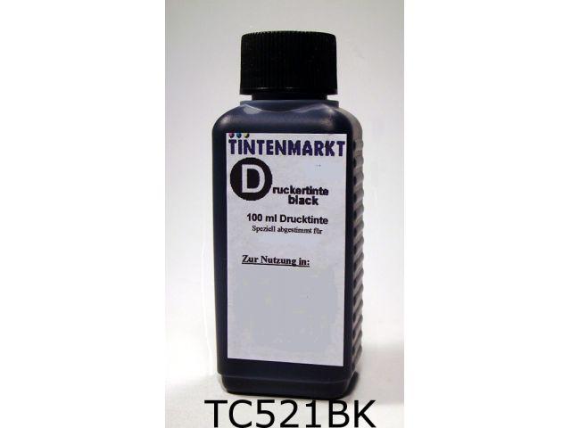 Druckertinte in Dye Based Qualität für Canon CLI521BK 100 ml schwarz