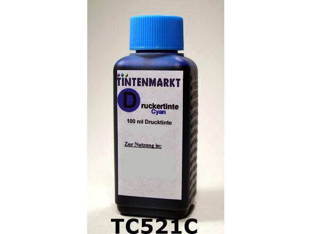 Druckertinte in Dye Based Qualität für Canon CLI521C 100 ml cyan