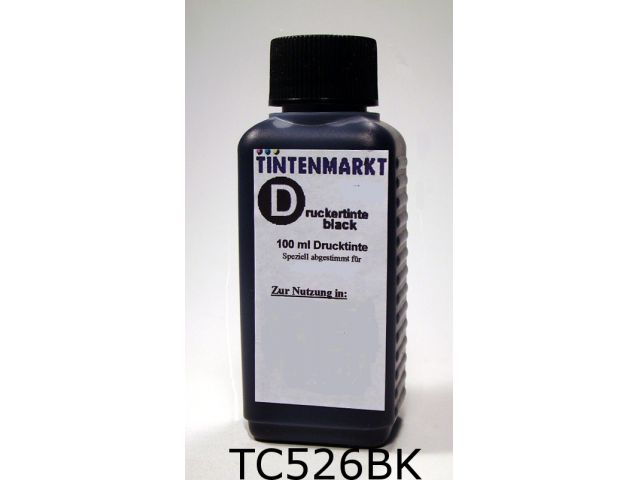 Druckertinte in Dye Based Qualit�t f�r Canon CLI-526BK 100 ml black