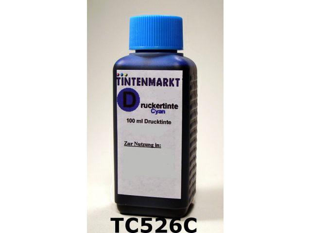 Druckertinte in Dye Based Qualität für Canon CLI-526C 100 ml cyan