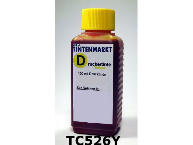 Druckertinte in Dye Based Qualit�t f�r Canon CLI-526Y 100 ml yellow