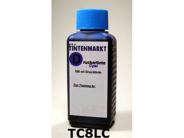 Druckertinte in Dye Based Qualit�t f�r Canon CLI8PC 100 ml light cyan